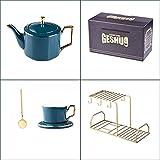 RONGXUE 8-teiliges Teekanne, Teetasse und Untertasse, Teekanne und Teetasse, für Teekanne und...