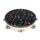 Cheniess 8' Hand Held Tambourine Drum Glocke mit Metall Jingles Percussion Musikbildungsinstrument...