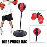 Ejoyous Punchingball Boxen Set Kinder Standboxsack Punching Ball Verstellbare Höhe Kinder Punching...