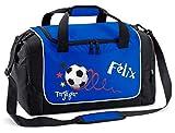 Mein Zwergenland Sporttasche Kinder Praktisch kompakt & robust Sporttasche mit Namen Fußball...