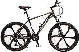 LAZNG Mountain Bike Unisex Hardtail Mountainbike 30 Beschleunigt 26inch 6-Speichen-Räder...