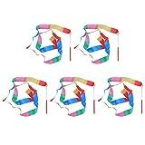 Toyvian 5 Stücke Tanzbänder Luftschlangen Rhythmische Gymnastik Band Zauberstäbe Kinder Party...