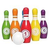 JW-YZWJ Kinder Fun Bowling hölzernes buntes Billardkugel Eltern-Kind-Interactive Puzzle Ballsport...