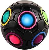 BBCZ Magic Rainbow Puzzle Ball- Geschicklichkeitsspiel - Spannendes Knobelspiel für Kinder und Erwachsene Mädchen Regenbogen Ball Zauberwürfel Regenbogen Ball (Mehrfarbig) Blue