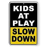 Unbekannt Sicherheitsschild Kids at Play Please Drive Slowly, Aluminium