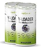 Recovery Shake Blackberry - V-Loader After-Workout Supplement Vegan - 1500g Brombeere Pulver - Kohlenhydrate - Eiweiß-Pulver - EAA - Kreatin-Monohydrat - L-Glutamine