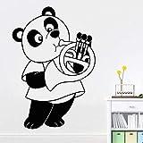 Tianpengyuanshuai Panda Spielen Horn wandtattoo Schlafzimmer Kindergarten niedlichen Panda Design...