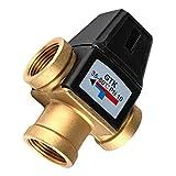 Fenteer Messing Heizung Thermostat Mischventil Thermostatventil Unterteil Brausearmatur - DN25...