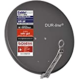 DUR-line Select 75cm x 80cm Alu Satelliten-Schüssel Anthrazit - [ 3X Test SEHR GUT *] Aluminium...
