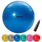 ScSPORTS Gymnastikball, Sitzball zur Entlastung der Wirbelsäule, als Yogaball geeignet, Ø 65 cm,...