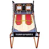 SONGYU Doppel-Basketballständer Basketballkorb Erwachsene Höhe 204cm Innen- Elektronische Wertung...