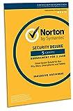 Norton Security Deluxe 2019 | 5 Geräte | 1 Jahr | PC/Mac/iOS/Android | Download, Aktivierungscode...