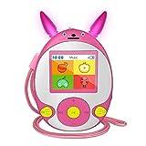 Kinder MP3 Player mit Bluetooth Lautsprecher Schlüsselband-Kopfhörer FM Radio Voice Recorder Video...