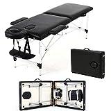 Massageliegen Massageliege Mobile Massagetisch Massagebett SPA-Bett 2 Zonen mobile klappbar...