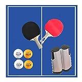 ZHLONG Tischtennisplatte, zweifarbig, tragbar, tragbar, für Zuhause und das Büro Schwarz, Grau