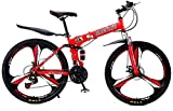 Aoyo Mountainbike Falträder, 27-Gang-Doppelscheibenbremse Fully Anti-Rutsch, leichten Alurahmen,...