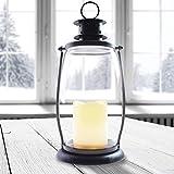 DecoKing LED Laterne LED Lampe 30 cm warmweiß Timer Kerze Batteriebetrieb dekoratives Licht...