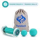 Fansteck Igelball und Fußmassageroller set für Plantarfasziitis, Muskel Roller & Bälle Set,...