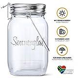 SONNENGLAS Classic 1000ml | Original Solarlampe/Solar-Laterne im Einmachglas aus Südafrika (inkl....