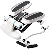 AMITD Multifunktion Schrittmaschine Mit Widerstandsbänder, Mini Fitness Aerobic Übung Stepper,...