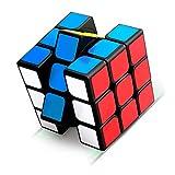 Jusduit Zauberwürfel, 3x3 Zauberwürfel, Magic Cube, Puzzle Cube, Speedcube für Konzentrations und Kombinationsübungen, Dreht Sich Schneller und Präziser, Super Robust mit Lebendigen Farben (Black)