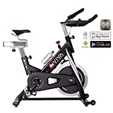 AsVIVA Indoor Cycle Speedbike S14 Bluetooth | inkl. SPD Klickpedale & Brustgurt (Pulsgurt) | 23kg...