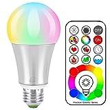 iLC LED Farbige Leuchtmittel RGB+Weiß Lampe Edison Farbige Leuchtmitte Farbwechsel Lampen...
