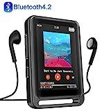 MP3 Player, 16GB Bluetooth MP3 Player mit 2.4' LCD Touchscreen, Sports MP3 Player mit Kopfhörer/FM...