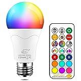 iLC LED Lampe ersetzt 85W, 1000 Lumen, RGB Glühbirne mit Fernbedienung Farbwechsel Farbige Birne...