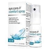 Hyaluron Augen-Spray gegen trockene Augen 15ml, unkonserviert, für Kontaktlinsen, auf das geschlossene Auge sprühen–Alternative zu Augentropfen