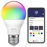 Govee LED RGB Lampe, dimmbare 7W E27 RGB+W Sync mit Musik farbwechsel Glühbirne mit APP | dimmbar...