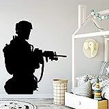YuanMinglu Kreative Soldat Vinyl Aufkleber Vinyl Schmücken Dekoration Tapete Junge Schlafzimmer...