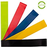 Fitnessbänder Set – Yoga Retreat • 5 Bänder in verschiedenen Stärken • inkl Tragebeutel &...