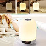 LSJZF Multi-Funktions-Nachttischlampe, Bewegliche Noten-Nachtlicht Mit Bluetooth-Lautsprecher, Mit...