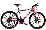 Unbekannt Mountainbike, 26' Zoll 10-Speichen-Räder High-Carbon Stahlrahmen, 21/24/27/30...