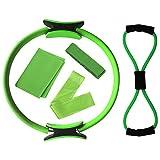 NOLOGO Gxbld-yy 5pcs Yoga Ausrüstung Set Pilates Ring Yoga Cotton Strap Widerstandsschleife Band 8...