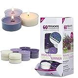 Smart Planet Kerzen Ambiente - 60er Duftkerzen Set Duft Teelichter Vanille Lavendel Duftteelichter...