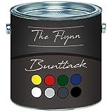 The Flynn Buntlack hochwertige Farbe für Holz und Metall -hervorragender Schutz für anspruchsvolle Holz- und Metallanstriche (1 L, Lichtblau (RAL 5012))