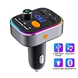 Bluetooth FM Transmitter, HOLALEI Bluetooth 5.0 Auto Radio Transmitter Freisprecheinrichtung, Auto...