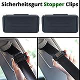 Auto Sicherheitsgurt Einsteller, zum Hals-Schutz und Gurt-Spannung einstellen, 2er Pack Gurt Clip,...