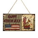BESPORTBLE Amerikanische Unabhängigkeitstag Holztafel Amerikanische Flagge Muster Rechteck...