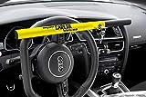 Kleinmetall 60230600 Carlok Deluxe Auto Diebstahlsicherung Lenkradkralle Absperrstange,Gelb