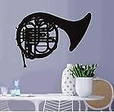 Wandaufkleber Cartoon Music Notes Posaune Musikinstrument Schlafzimmer Abnehmbare Vinyl Musik Blume...