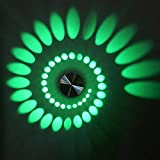 zZZ LED Moderne Leichte Poröse Wandeinbauleuchte Aus Aluminium LED Integriert 3W warm (Farbe :...