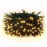 30M Warmes Weiß 300 LEDs 8 Modi-Lichterketten für Weihnachtsbaum, Garten, Party und...