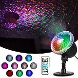ESHOWEE LED Projektionslampe, Lichteffekt Projektor Außen Lampe mit 10 Motive Dynamisch und...