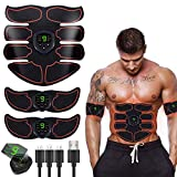 EMS Trainingsgerät Bauchmuskeltrainer Bauchtrainer Muskelstimulator mit 6 Modi und 10 Intensitäten...