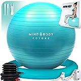 Gymnastikball Mind Body Future. Swiss Ball perfekt als Sitzball u. Therapieball. für Yoga, Pilates,...