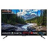coocaa 43S6G 43 Zoll Smart 4K UHD LED Fernseher (109 cm) mit Android TV (Rahmenloses Design, Triple Tuner, Android 10.0, Netflix, YouTube, Prime Video, HDMI, CI-Slot, USB, Digital Audio)