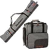 Brubaker Kombi Set Carver Performance - Skisack 170 cm und Skischuhtasche für 1 Paar Ski + Stöcke...
